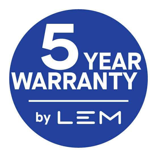 LEM warranty 5 years